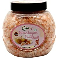 Nutriorg Himalayan Pink Salt 1100g | 100% Natural | Crystal Form | 80+ Minerals | No Adulteration