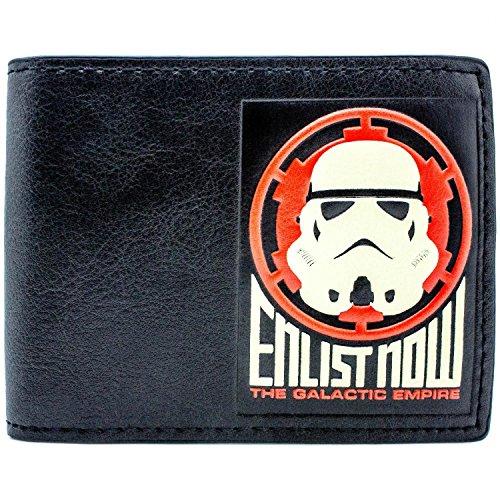 Disney Star Wars Enrôlez Maintenant Trooper Noir Portefeuille