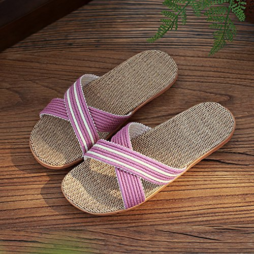 DogHaccd pantofole,Biancheria pantofole estate home Uomini Donne estate piscina anti-slittamento home fresco in estate spesso coppie di pantofole Viola chiaro4