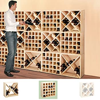 wine rack system cube 52 nature module 3 separate shelf h52 x w52 x d25 cm diy. Black Bedroom Furniture Sets. Home Design Ideas