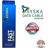 Syska CC10 Micro USB Cable - 5.9 Feet (1.8 Meters) - (White)