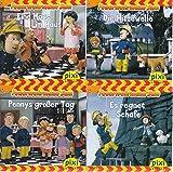 4 Pixi-Bücher aus Serie 166 Feuerwehrmann Sam: Nr. 1489 Eine Maus im Haus; 1492 Pennys großer Tag; 1494 Die Hitzewelle; 1495 Es regnet Schafe.