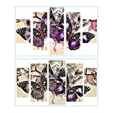 #10: Vodool Colorful Butterfly 5D DIY Full Drill Diamond Painting Combination Kit Decor