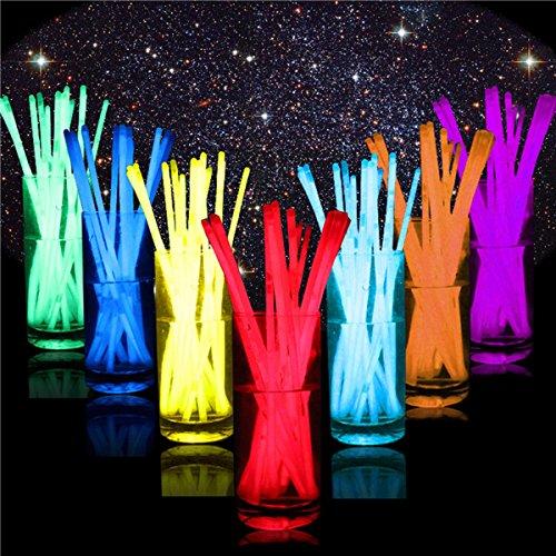 Glowing Neon Colors Glow Light Sticks Bracelet Bracciale Braccialetto Disco Rave Party