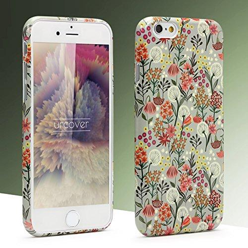 iPhone 6 / 6s Coque, Urcover TPU Silicone Housse Apple iPhone 6 / 6s Protection Étui Fleurs Motif Design 4 Téléphone Femme Smartphone Case Design 14