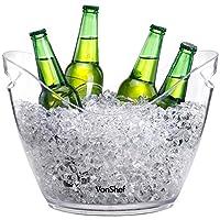Dites au revoir aux boissons tièdes et bonjour aux boissons parfaitement fraiches avec l'élégant Seau à Glace VonShef. Assez large pour garder au frais une variété de bouteilles à la fois - parfait pour le vin, champagne, bières, alcools, boissons sa...