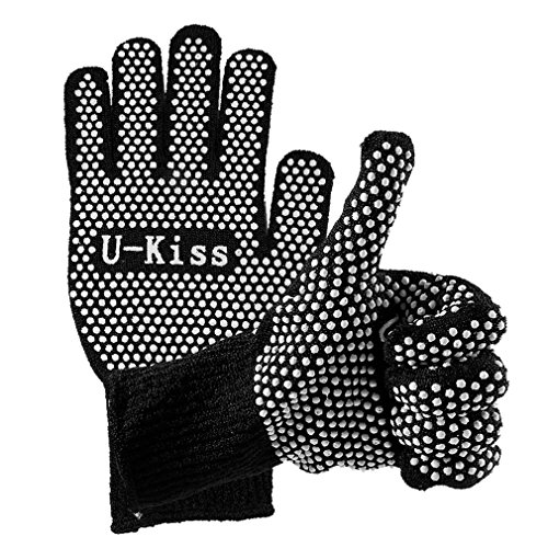 U-Kiss Heat Resistant Glove, Double-sided Comfortable Glove for Hair Styling Curling Anti-Hot Antislip Glove