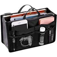 ssgthbfhf Handbag Organiser Insert Expandable Liner Bag Pouch Zipper Closure Tote Organiser Diaper Bag Cosmetic Travel Bag Liner Pouch with Handle