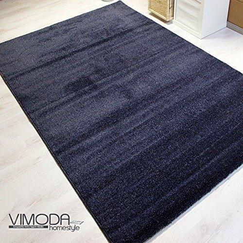 Tappeto Moderno - Alta Qualità - Morbido e Spesso - Blu Scuro - Facile Manutenzione (Spesso Cucina Tappeti)