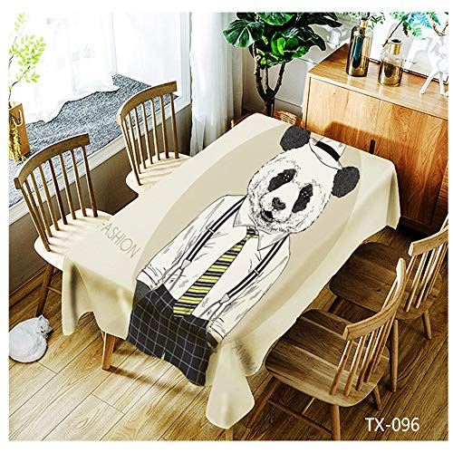 Digital Printing Polyester Simple Fashion Rectangular Tablecloth Oil-Proof Anti-fouling Reusable Square Tablecloth Suitable for Indoor and Outdoor 140x140cm ()