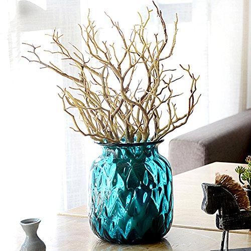 Yonganuk artificiale secchi ramo, falso forest dry ramoscelli plastica pianta albero per decorazione casa festa di nozze ornamento decorazione, coffee, taglia libera