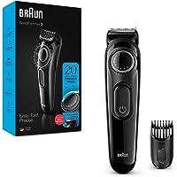 Braun BT3222 Bart und Haarschneider für Herren, 20 Längeneinstellungen, schwarz