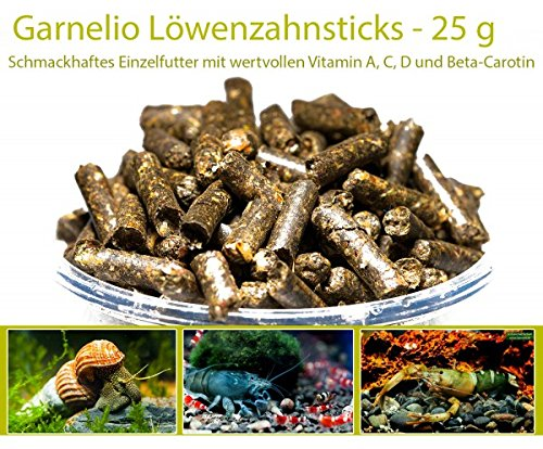 Garnelio - Löwenzahn Sticks - 25 g - Garnelen Futter