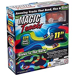 220 piezas Magic Tracks 11Ft Speedway Amazing Tracks que doblan Flex Glow en la oscuridad