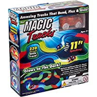 220 piezas Magic Tracks 11Ft Speedway Amazing Tracks que doblan Flex Glow en la oscuridad