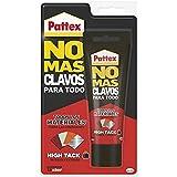 Pattex No Mas Clavos Para Todo HighTack Adhesivo de montaje resistente a temperaturas extremas, pegamento fuerte en superfici