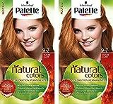 Schwarzkopf - Palette Natural Colors - Coloration Permanente Cheveux - Cuivré Clair 9.7  - Lot de 2