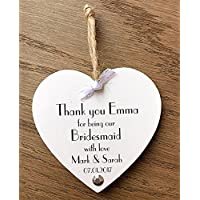 Bridesmaid, Thank you Maid of Honour Gift Plaque, Wooden Card, Wedding W293