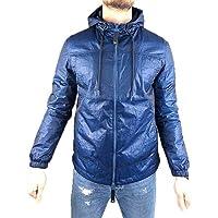 Guess Parka Corto con Cappuccio in Tessuto Sintetico Uomo Colore Blu - M92L17WBFS0