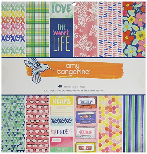American Crafts Papier Pad 12Zoll x 12Zoll 4Amy Tan Better Together, Acryl, Mehrfarbig -