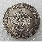 DDTing Best Morgan Dollari d'Argento - Hobo Nickel Coin - 1881 Moneta da Collezione in Argento Dollaro USA Old Morgan Dollar goodService
