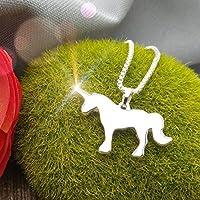 Einhorn Kette Halskette Geschenk für Frauen silber mittellang Muttertag Polarkind