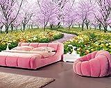 Yosot 3d Fototapete Romantische Kirschbaum Das Wohnzimmer Schlafsofa Tv Schlafzimmer Natürlichen Floralen Hintergrund Tapete Wandbild-450Cmx300Cm