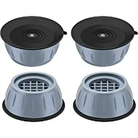Revwd Washer Dryer Anti Vibration Pads with Suction Cup Feet, Fridge Washing Machine Leveling Feet Anti Walk Pads Shock…