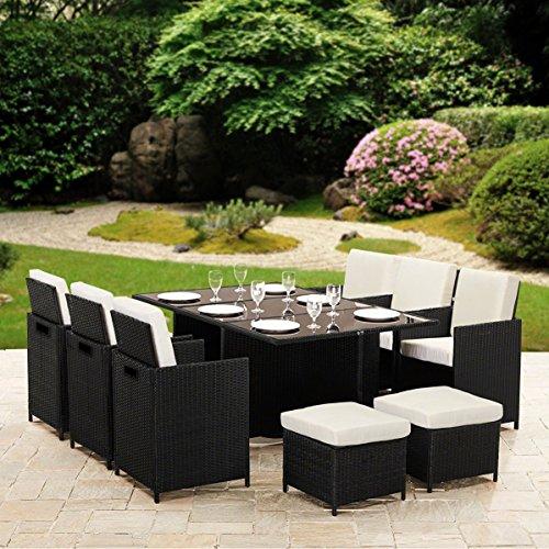 10 Seater Garden Furniture 11 piece 10 seater rattan cube dining table garden furniture patio set 11 piece 10 seater rattan cube dining table workwithnaturefo