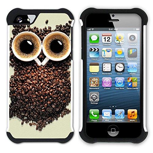 Graphic4You Kaffee Tasse Koffein Hart + Weiche Kratzfeste Hülle Case Schale Tasche Schutzhülle für Apple iPhone SE / 5 / 5S Design #11