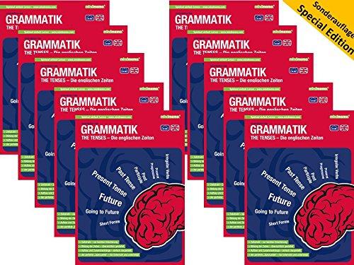 10x mindmemo Lernfolder - The Tenses - Die englischen Zeiten - Grammatik Lernhilfe - Sonderauflage im Klassensatz - 10er Set