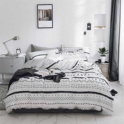 XiYunHan Cotton europäischen Stil Multi-Muster-Decke Decken Vier Sätze. (Color : Stripes, Size : King)