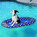Vercico Flotador Inflable para Perros Balsa Flotante para Perros Adultos y Cachorros Balsa de Juguete para Piscina