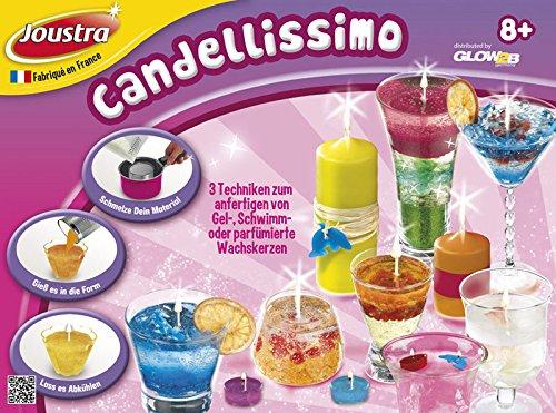 Joustra 1745020 - candellissimo, kit per la creazione di candele in cera, in gel o galleggianti