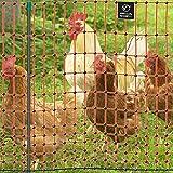 VOSS.farming Premium Elektronetz 112cm farmNET 50m Hühnernetz Geflügelnetz Hühnerzaun Geflügelzaun 16 Pfähle 2 Spitzen orange