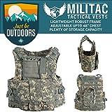 Militac, Delta, gilet tattico, ideale per softair e paintball, ACU