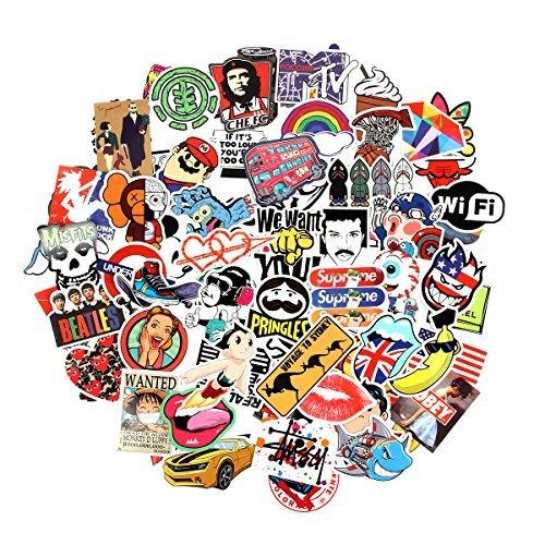 Verschiedene Vinyl-Aufkleber von Baybuy, 100 Stück, Auswahl an Vinyl-Aufklebern für Auto, Motorrad, Fahrrad, Koffer, Abziehbild, Graffiti-Patch, für Skateboard und Laptop -