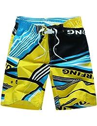 Stillshine Pantalones Casuales de Playa de Coco de Verano Pantalones Cortos de Baño de Tallas Extra para Hombres