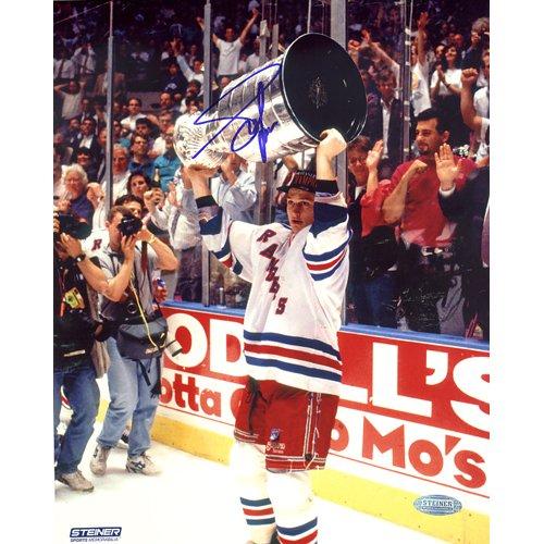 New York Rangers 1994 Den Stanley Cup (Steiner Sports NHL New York Rangers Adam Graves mit Tasse Overhead Foto, 8x 25,4cm)