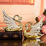 Lotefong The Wedding Gift Home Furnishing Ceramic Jewelry Bridal Decoration Decoration Crafts On A Gold-Plated Gold-Plated Swan Swan