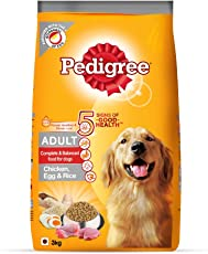 Pedigree Adult Dog Food (High Protein Variant) – Chicken, Egg & Rice, 3 Kg Pack