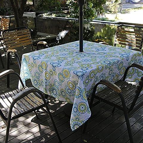 Fanjow® Polyester Nappe Rectangulaire Imprimé floral Nappe étanche Nappe anti-fuites pour restaurant de cuisine salle à manger fête Banquet, Polyester, Medallion Flower, 60