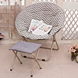 QIQI Klappstuhl,Moon Stuhl,Sonnenliege Lazy Chair Lounge Stuhl Sofa Mittagessen Brechen Rückenlehne -M