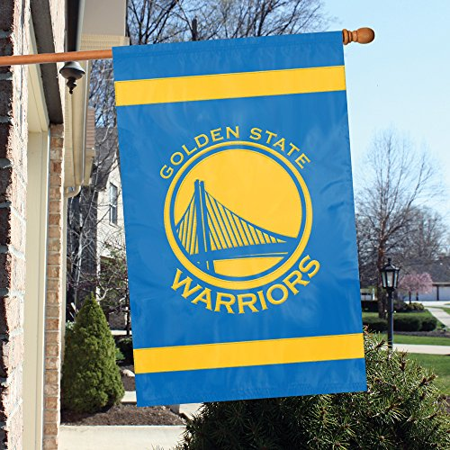 Party Animal Offizielles National Basketball Association Fan Shop Authentic NBA Team Sports Spirit Flagge-Man Cave Banner, Golden State Warriors (Basketball Authentic)