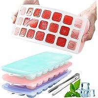 3pcs Bac à Glaçons en Silicone, Bac a Glacons, Glaçon avec Couvercle, Ice Cubes Tray, Glaçon Silicone, Bac Glacon…