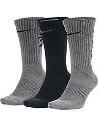 Nike Unisex Dry cojín redondo formación calcetines (3 pares) - SX5128-900,