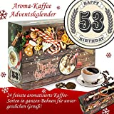 Geschenk zum 53. | Advent Kalender | Kalender Advent Frauen Kalender Advent Männer Kalender Advent Arabica Bohnen Adventskalender Arabica Bohnen Adventskalender Flavoured Coffee