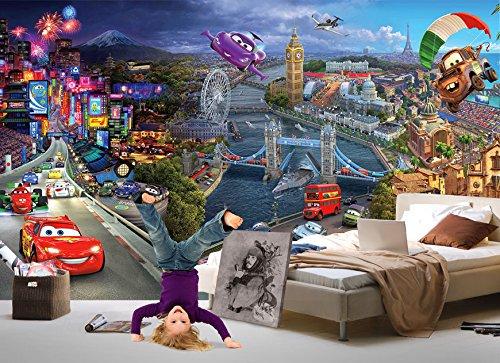 Kinder FOTOTAPETE CARS XXXL Kinderzimmer Wanddeko Poster Bordüre Wandtatoo Bild children wallpaper kids wall mural