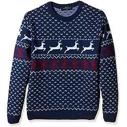 Jersey Azul para hombre Navidad con Renos Estilos Retro y Vintage- Tallas M e10bf8c0ab42