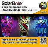 Direct Global Mosaik-Solarleuchte für den Garten mit Stecker, 6 Stück
